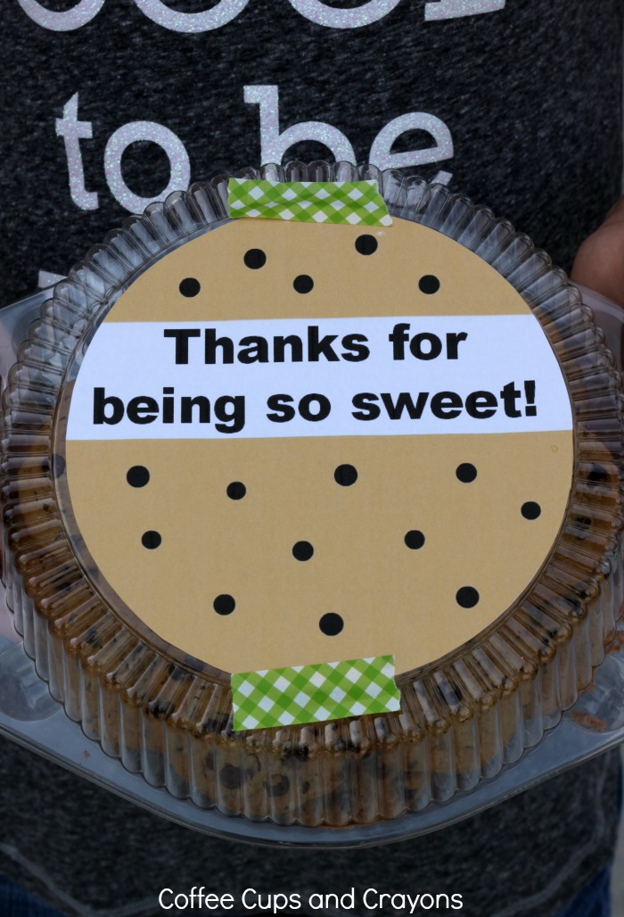 Thanks for Being So Sweet Free Printable Teacher Appreciation Gift