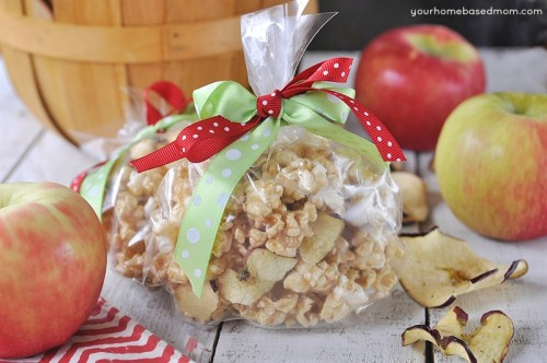 Caramel Apple Popcorn for the teacher!
