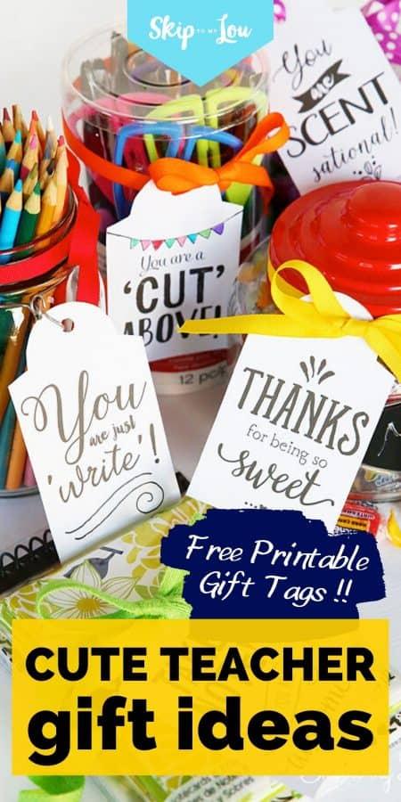 cute teacher gift ideas PIN