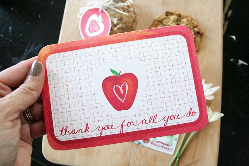 Printable Teacher Appreciation Card designed by Jen Goode