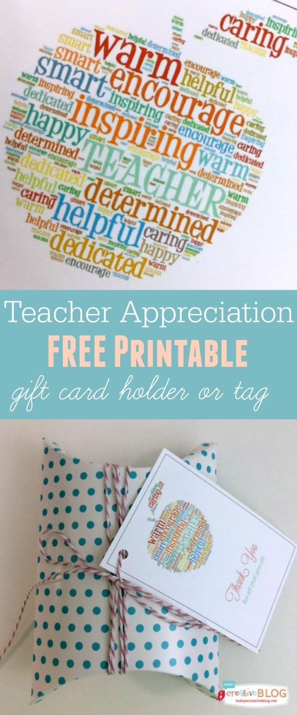 Free Printable Teacher Appreciation Gift Card Holder Skip To My Lou