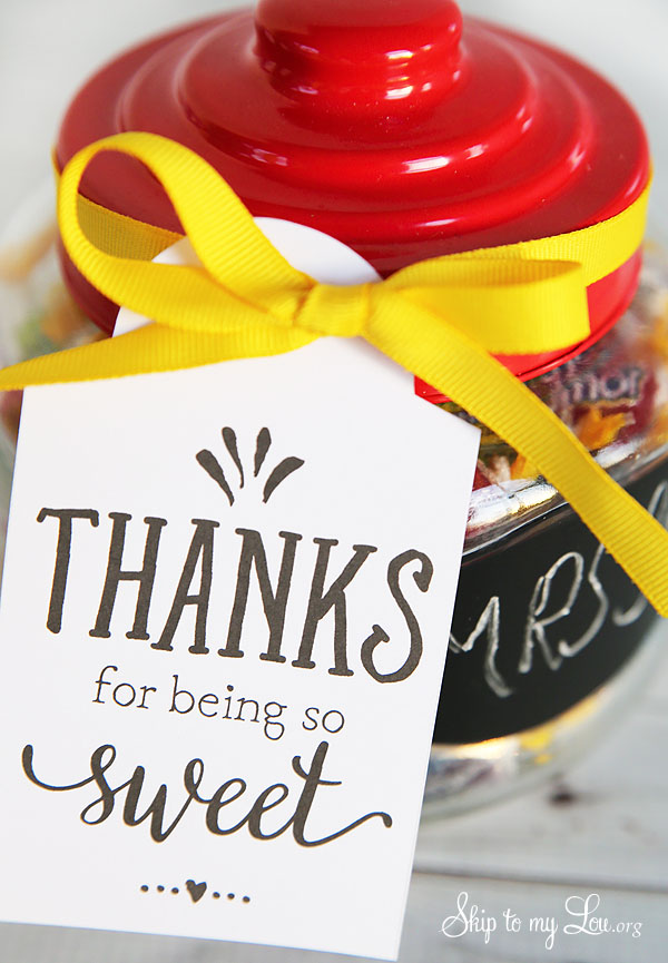 thanks for being so sweet printable tag