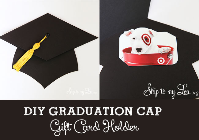 diy graduation cap gift card holder skiptomylou.org