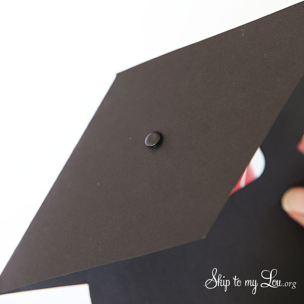 graduation cap gift card holder step 6