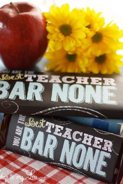 teacher appreciation printable candy bar cover