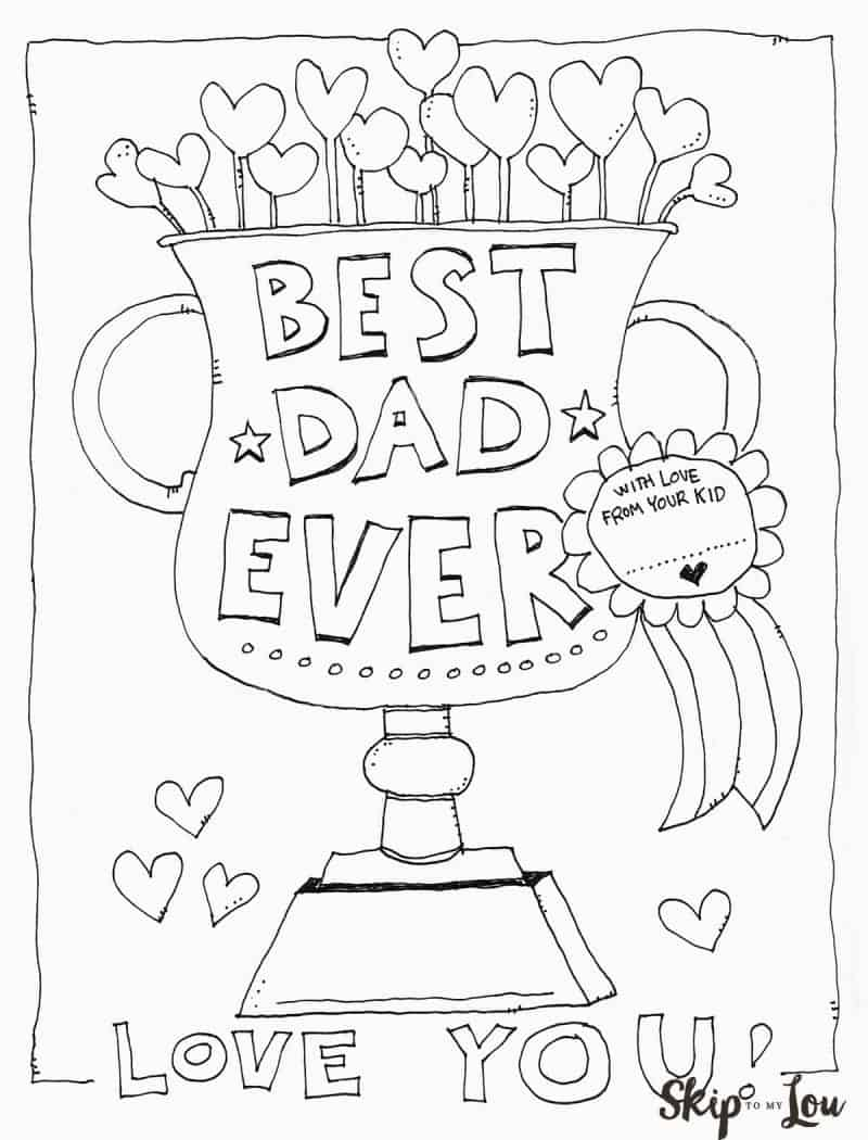 Dad Coloring Page for the BEST Dad Skip to my Lou