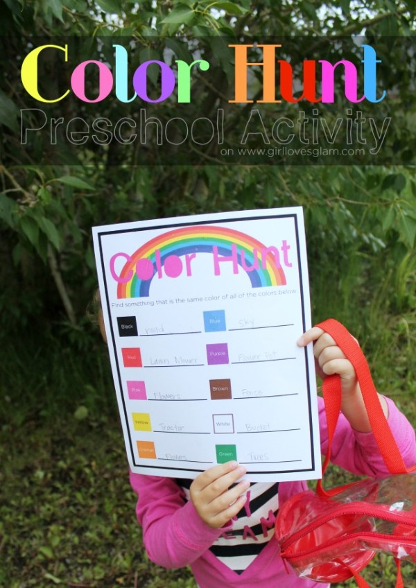 Color Hunt Preschool Activity with Free Printable