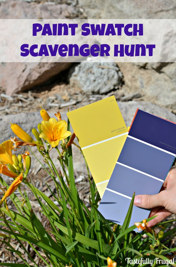 Paint Swatch Scavenger Hunt | Tastefully Frugal for Skip To My Lou