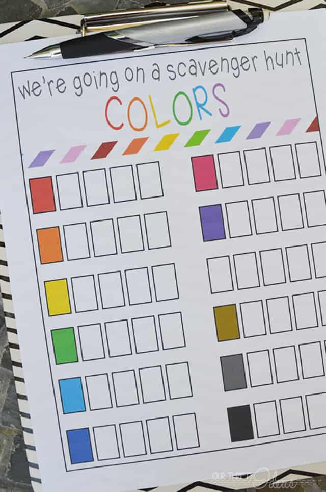 Summer Color Scavenger Hunt- Free Printable | Skip To My Lou
