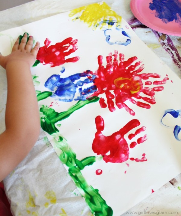 Flower Finger Painting