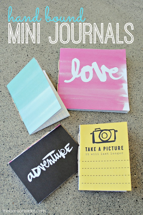 Hand Bound Mini Journals, a tutorial by thebensonstreet.com