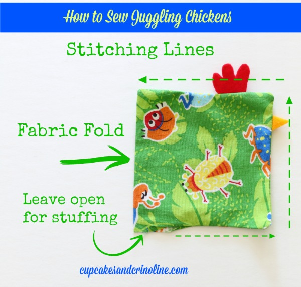 How to Sew Juggling Chickens  cupcakesandcrinoline.com