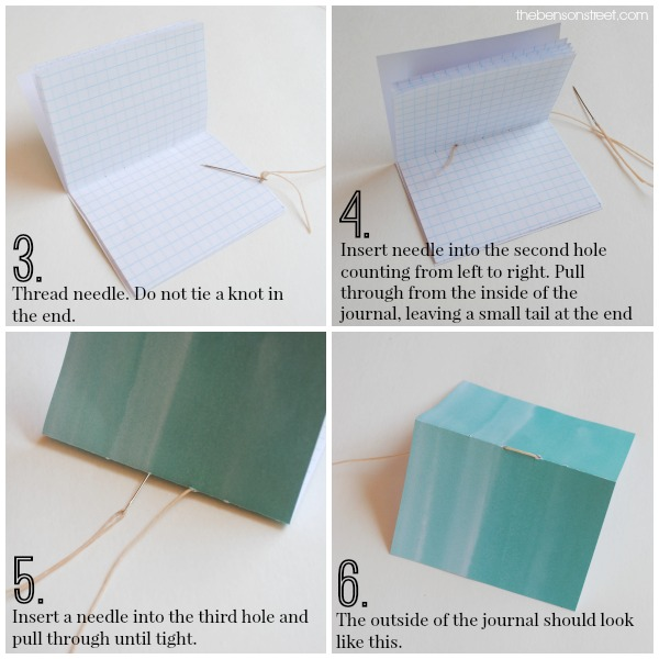 How to bind mini journals at thebensonstreet.com
