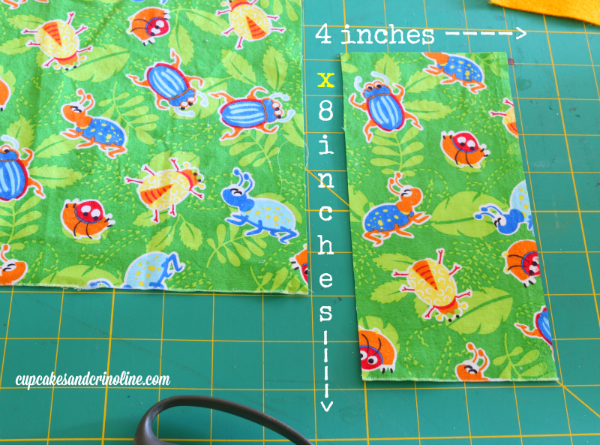 Juggling Chickens fabric dimensions for cutting out  cupcakesandcrinoline.com