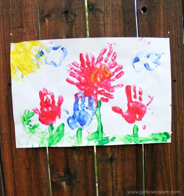 Summer Flower Finger Painting