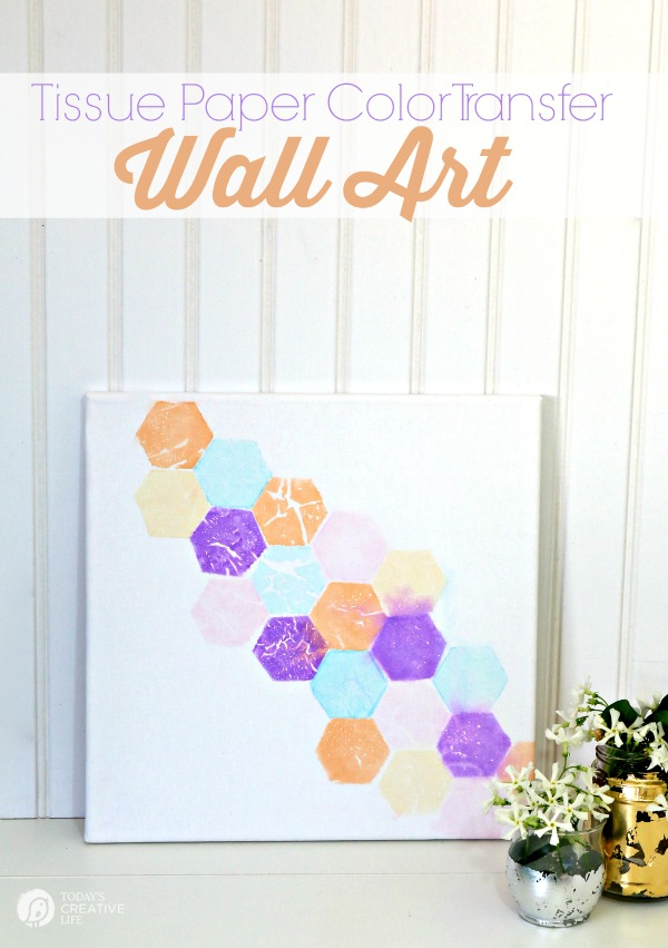 Diy Wall Art Tissue Paper : Tissue paper color transfer wall art skip to my lou