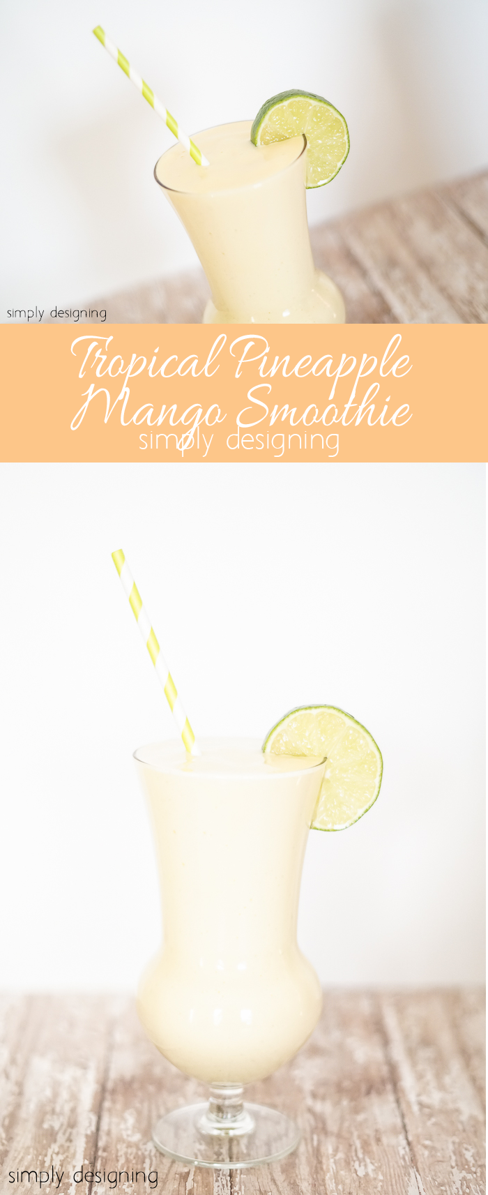 Tropical Pineapple Mango Smoothie Recipe Skip To My Lou