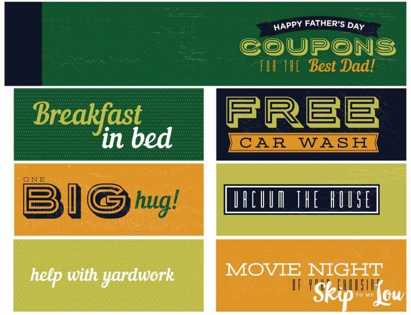 coupon book for dad ideas
