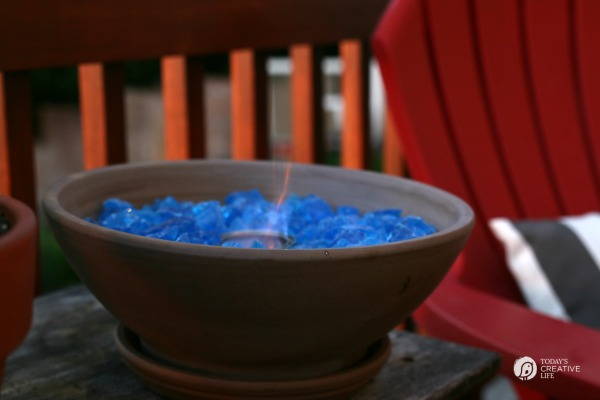DIY Tabletop Fire Bowl | TodaysCreativeLife.com