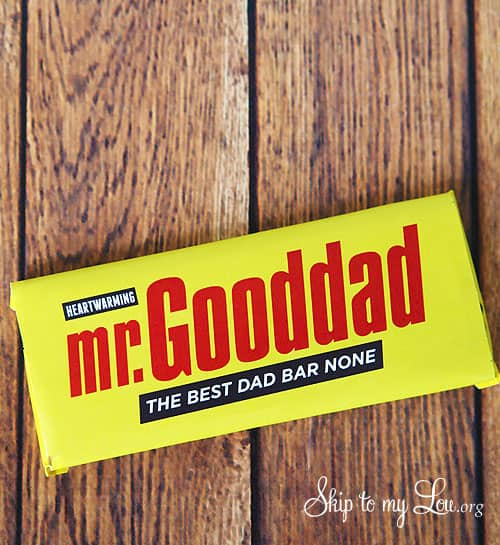 candy wrapper for dad - mr. good dad the best dad bar none