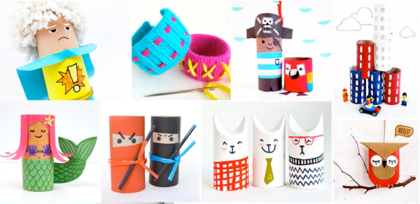 toilet roll crafts, mollymoo, paper crafts
