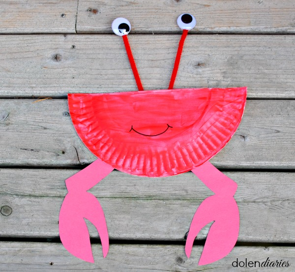 paper plate crab craft & Paper Plate Crab | Skip To My Lou