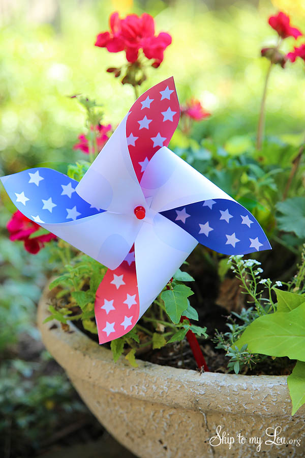 printable fourth of july pinwheels
