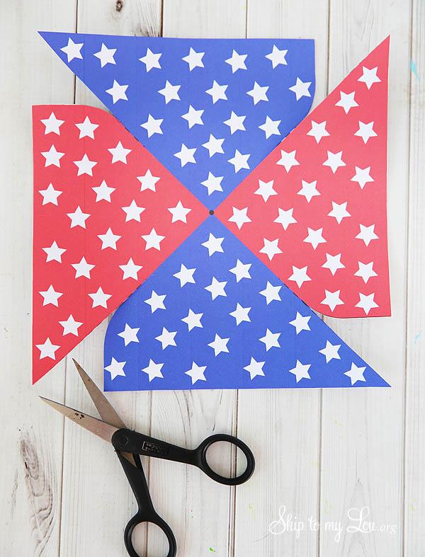 patriotic pinwheel step 1