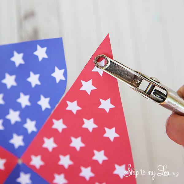 patriotic pinwheel step 2a