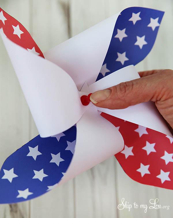 patriotic pinwheel step 4