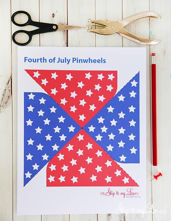 fourth of july pinwheel supplies
