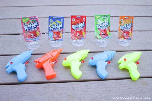 squirt gun tie dye supplies