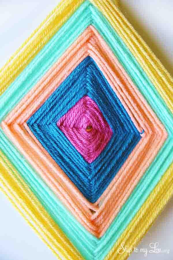 DIY God's Eye Yarn Art