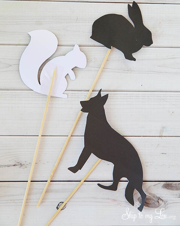 animal silhouettes for shadows