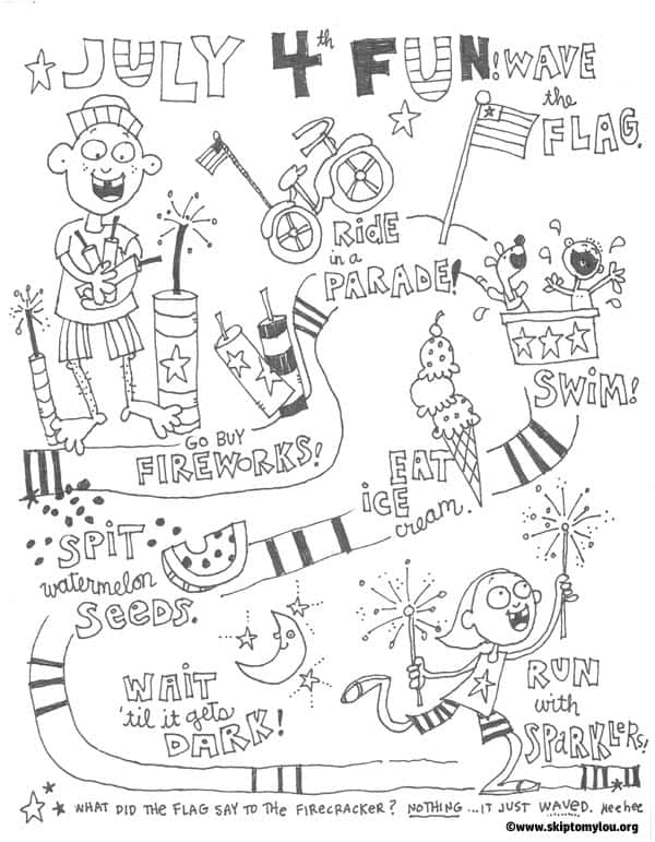 Fourth of july coloring pages skip to my lou for 4th of july coloring page