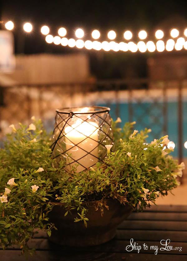 lighted flowering centerpiece