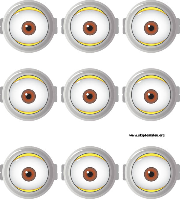 graphic about Printable Eyes referred to as Cost-free Printable Minion Goggles For Consuming Cups Miss out on Towards My Lou