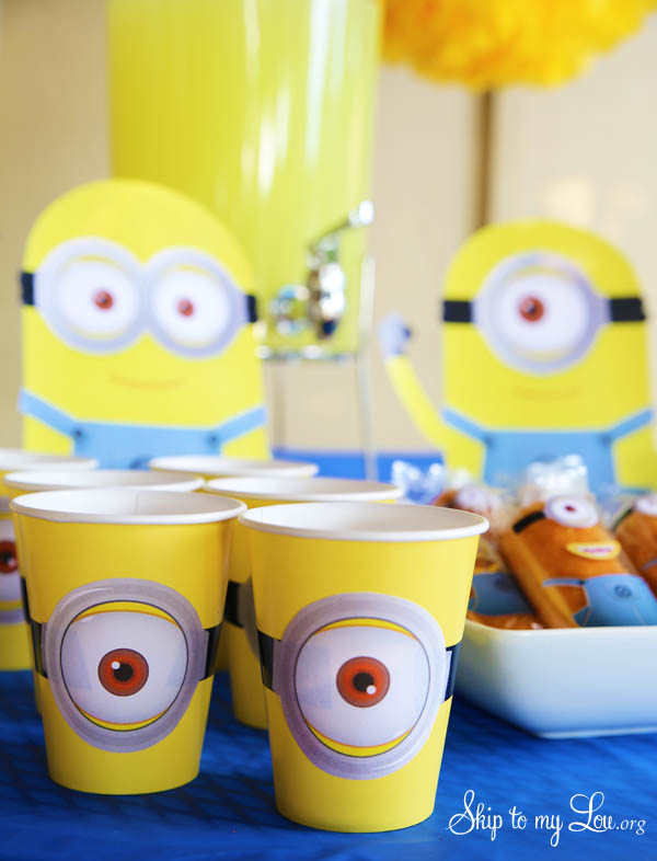 printable minion party cups