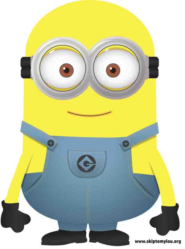 Adorable image in minion template printable