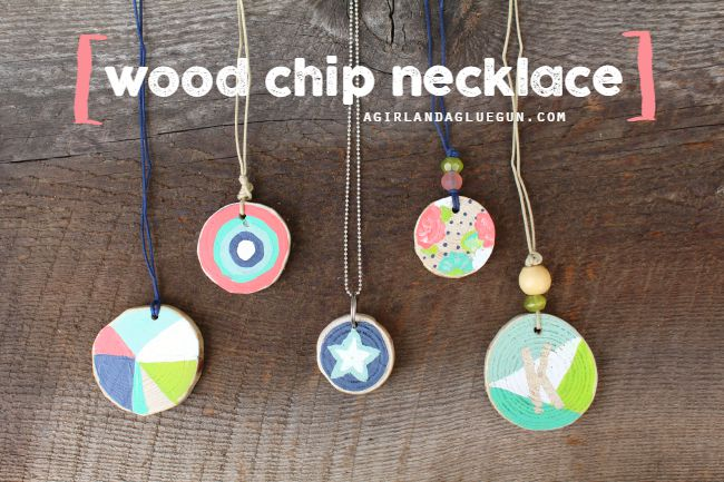wood chip necklace resized kids crafts