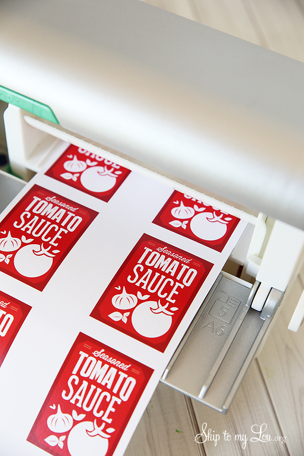 DIY canning labels