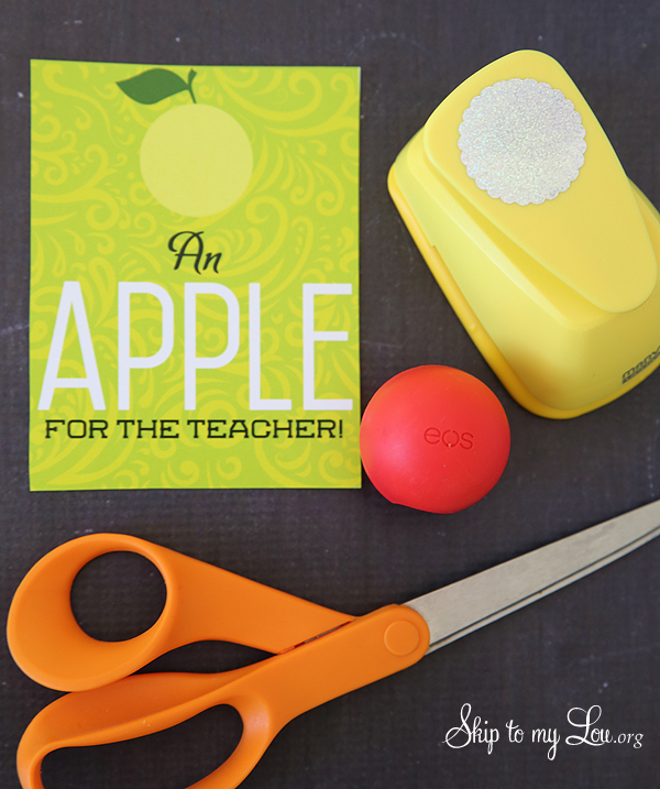 EOS apple teacher gift supplies