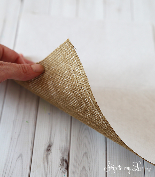 how to print on burlap instrustions