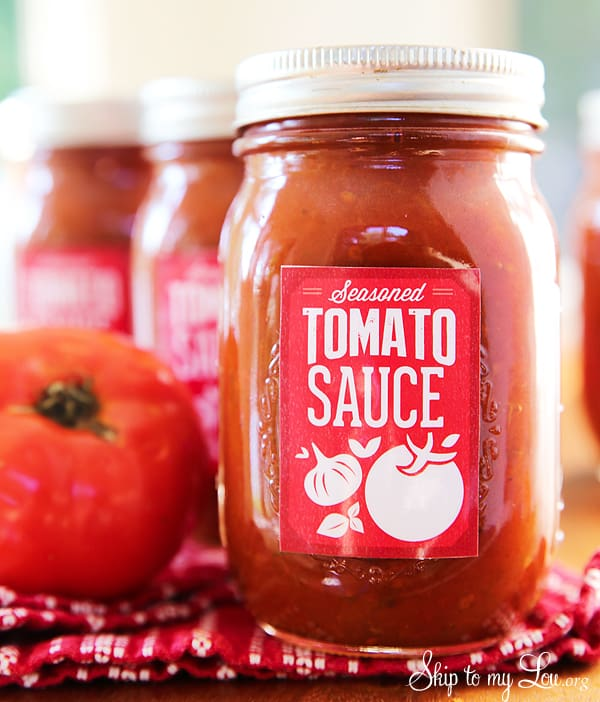 free canning labels for homemade tomato sauce