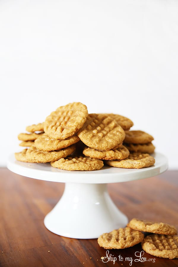 3 Ingredient Easy Peanut Butter Cookies Skip To My Lou