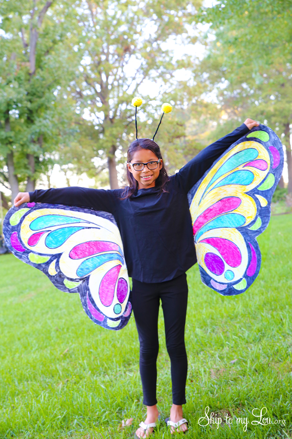 Beautiful Butterfly Costume - EASY No Sew idea | Skip To ...