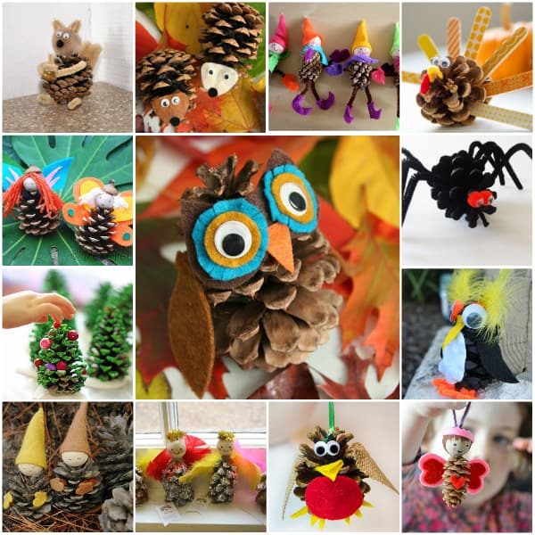 Diy pinecone crafts skip to my lou for Pine cone crafts for children