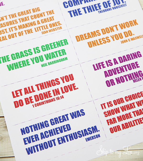 printable quote cards