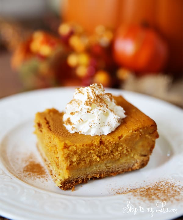 Pumpkin Gooey Butter Cake | Skip To My Lou