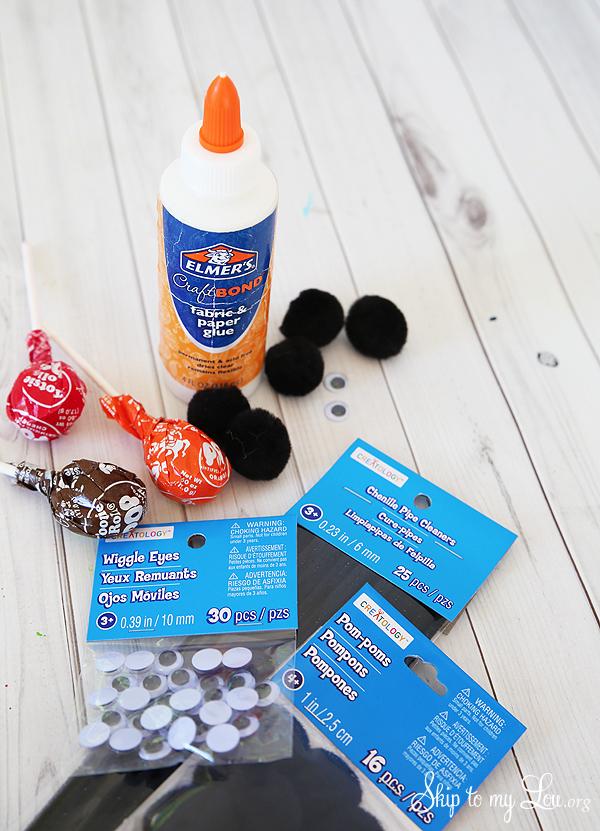 tootsie pop spider supplies